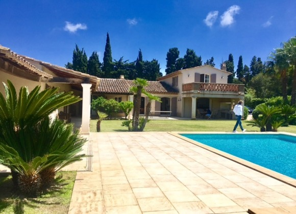 rent villa elegance canoubiers swimming pool