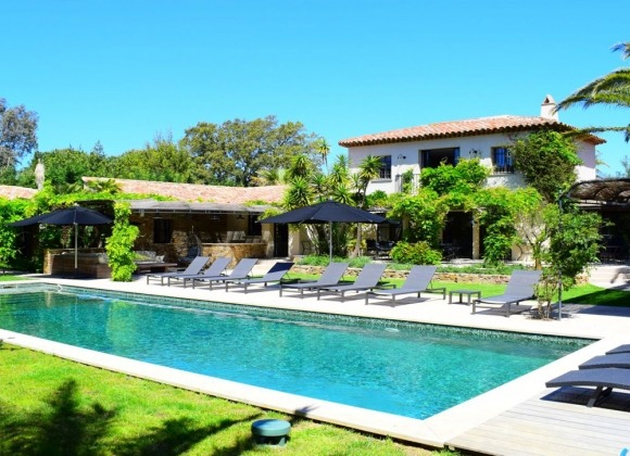 rent villa maryse les salins st tropez swimming pool