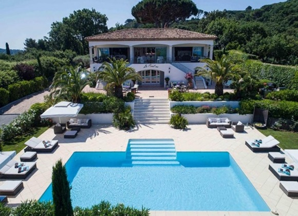 villa for rent st tropez la belle isnarde - villa tortue - property front