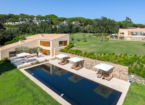 villa for rent les parcs de st tropez pure art property bird view