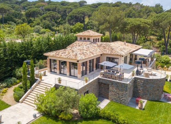 villa for let st tropez Villa Chianti - birdview