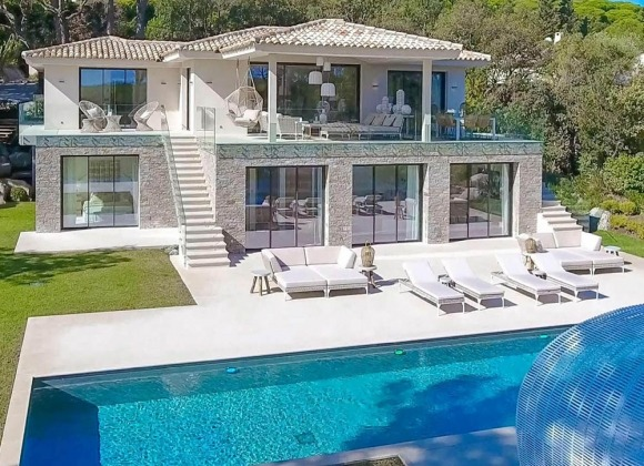 villa for rent st tropez les marres luxe property front