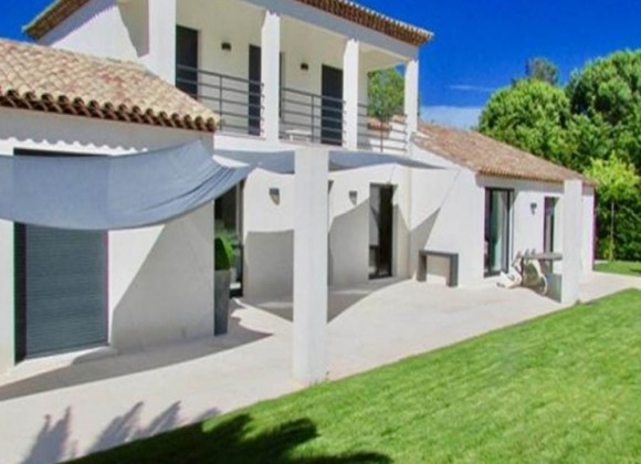 villa for rent les salins st tropez outdoor rear view