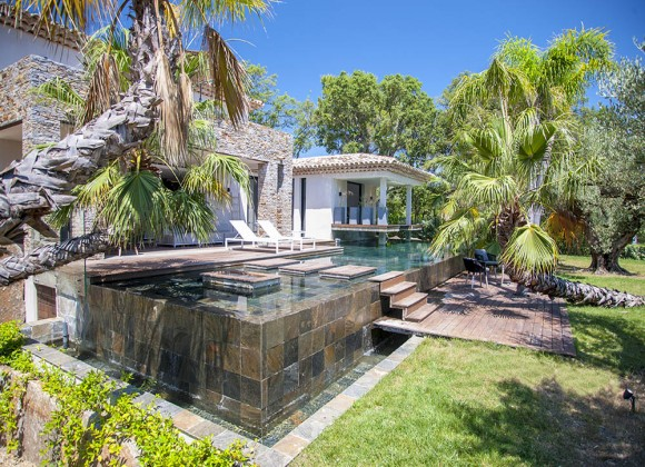 villa for rent bali saint tropez valfere swimming pool