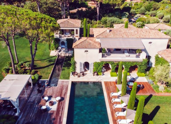 villa for rent white parrot les parcs st tropez bird view