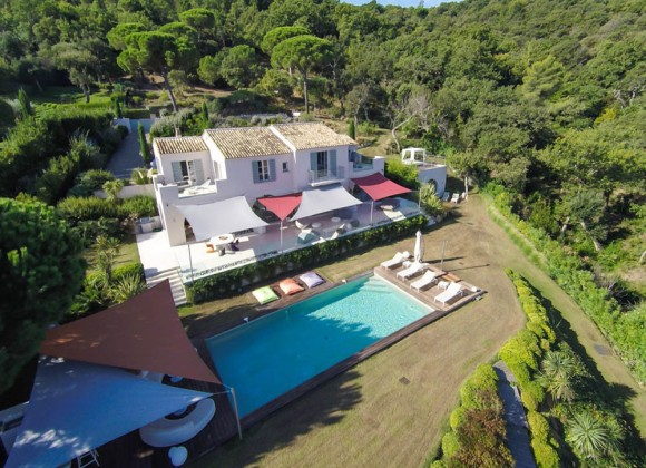 villa for let route des plages st tropez elegante property birdview