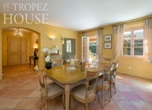 villa for rent st tropez domaine de la castellane villa castelanne dining area