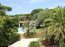 rent villa st tropez la tour backyard