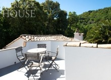 rent villa playa st tropez la belle isnarde roof top