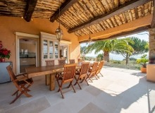 villa for rent st tropez cap tahiti outdoor terrace