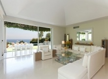 Patch Sea View villa in Ramatuelle - living room