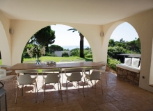 Villa Romy in Ramatuelle - summer dining