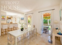 villa for rent st tropez domaine de la castellane villa azalee dining area