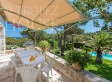 Villa Oliver next to the Pampelonne beach in Saint Tropez - terrace