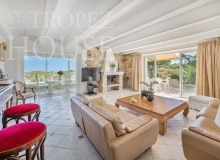 Villa Oliver next to the Pampelonne beach in Saint Tropez - living room
