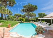 Villa Oliver next to the Pampelonne beach in Saint Tropez - swimming pool