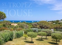 Villa Oliver next to the Pampelonne beach in Saint Tropez - sea view