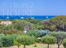 Villa Oliver next to the Pampelonne beach in Saint Tropez - seaview