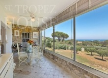 Villa Oliver next to the Pampelonne beach in Saint Tropez - dining room