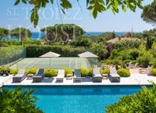 Luxury villa Diana in Pampelonne beach in St Tropez - pool, tennis court and sea view