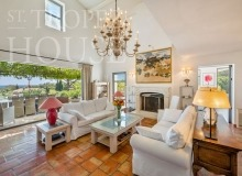 Luxury villa Diana in Pampelonne beach in St Tropez - living room