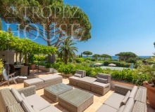 Luxury villa Diana in Pampelonne beach in St Tropez - summer living