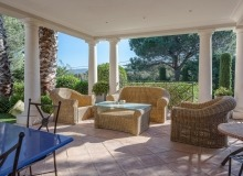 holiday rental villa davpam pampelonne beach patio