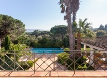 rent villa davpam pampelonne beach balcony view