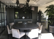 rent villa horizon st tropez belle isnarde dining table