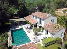 villa for let lei marres st tropez route des plage property birdview