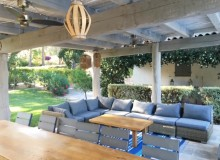 villa for rent lei marres st tropez route des plage covered terrace