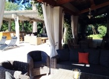 villa for rent st tropez route des plage villa lei mares terrace
