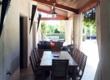 villa for rent st tropez route des plage villa lei mares terrace outdoor dining area