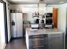 villa for rent st tropez route des plage villa lei mares kitchen