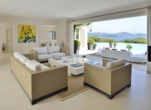 villa for rent les parcs de st tropez royal palm living area terrace
