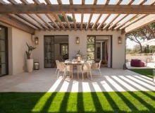 villa for rent le parcs des st tropez agape terrace dining area