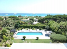 villa for rent pampelonne kubic terrace sea view