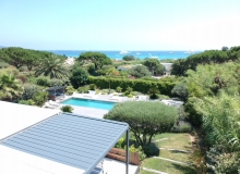 holiday rental pampelonne kubic terrace sea view