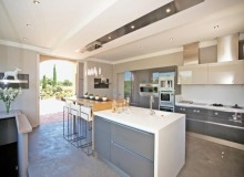 villa for let st tropez route des plages karla kitchen