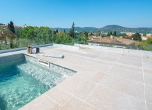 villa for rent st tropez place des lices anna swimming pool sea view