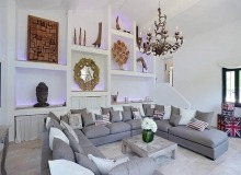 villa for rent les parcs de st tropez hacienda living room