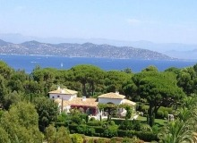 villa for rent les parcs de st tropez hacienda property bird view
