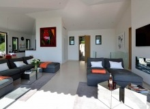 villa for rent escalet flamingo living room