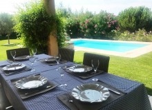villa for rent gassin golf course st tropez outdoor dining area
