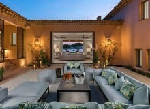 villa for rent st tropez canoubiers inner patio
