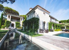 villa for rent white parrot les parcs st tropez property rear