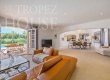 Luxury Family Villa Cap Bastide for Rent in Saint Tropez - living room with dining area