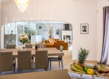 Luxury Family Villa Cap Bastide for Rent in Saint Tropez - dining room and kitchen