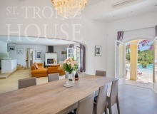 Luxury Family Villa Cap Bastide for Rent in Saint Tropez - dining area
