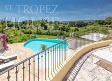 Luxury Family Villa Cap Bastide for Rent in Saint Tropez - swimming pool, balcony view